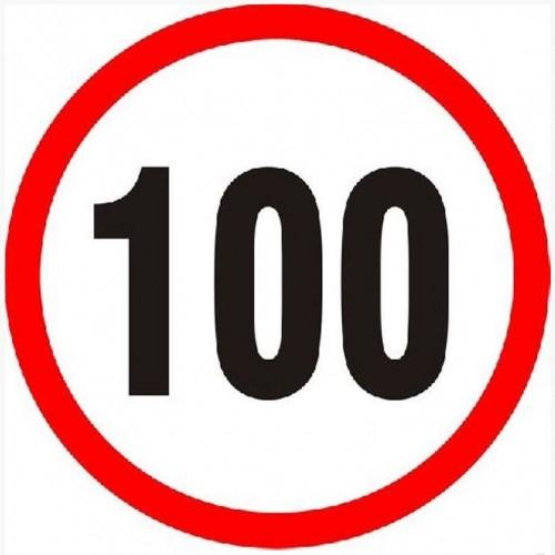 Autocolant viteza 100KM 5907478300135